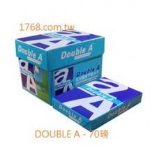 【DOUBLE A】A4 -70P-白色影印紙-一次10包(DA)