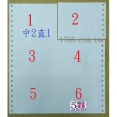 1P  中二直一 (1聯電腦報表紙)(中2直1)(台灣製造.好印不卡紙)(醫院診所專用)(中2直1)(中二直1) 1P