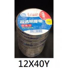 四維鹿頭 超透明膠帶 文具膠帶  12mm X 40Y (12X40Y) PP3Q