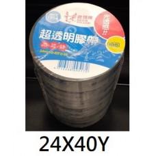 四維鹿頭 超透明 文具膠帶 24mm X 40Y (24X40Y) PP3Q
